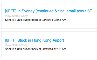 6FFF Email Segment