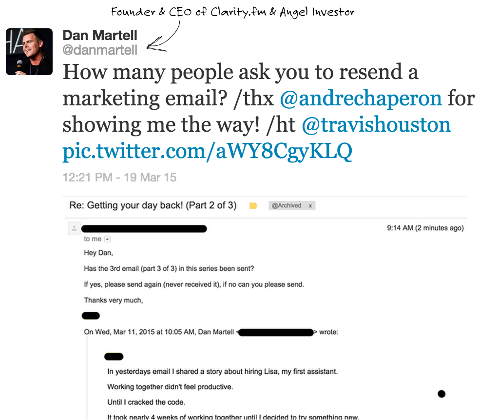 Email from Dan Martell