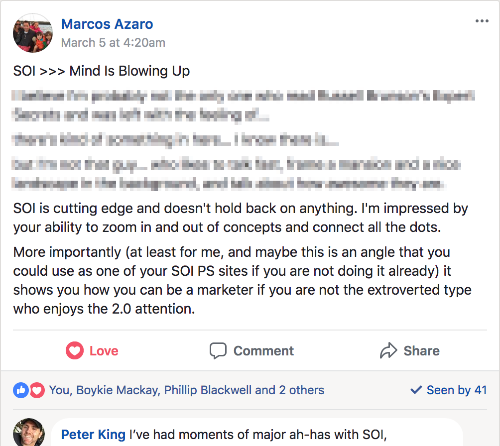 Kudos from Marcos Azaro