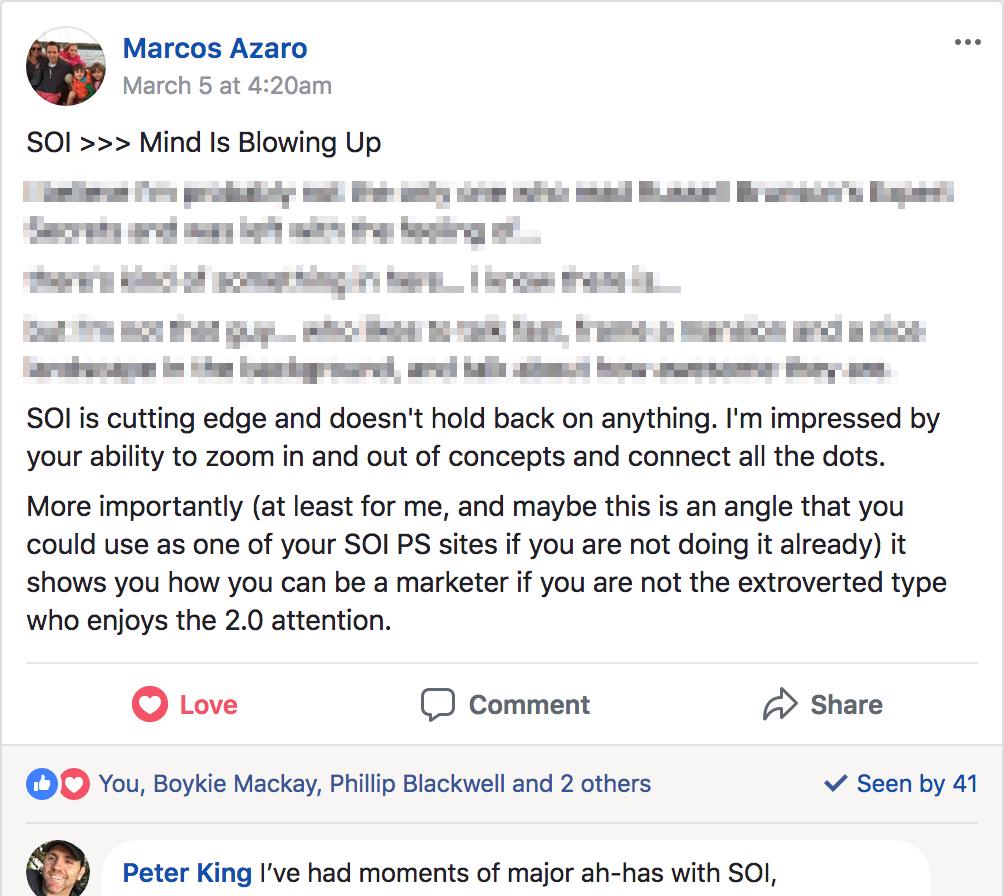 Kudos from Marcos Azaro